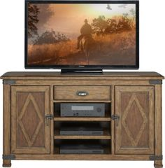 Eric Church Highway To Home Heartland Falls Brown 64 in. Console . $699.99. 64W x 18D x 36H. Find affordable TV Consoles for your home that will complement the rest of your furniture. #iSofa #roomstogo