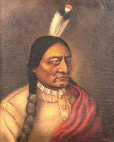painted by Catherine Weldon. She was an activist for the Sioux and a close friend of Sitting Bull. She left Standing Rock a month before his death