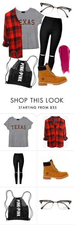 """Texas"" by eemaj ❤ liked on Polyvore featuring Rails, Timberland, Victoria's Secret, Ray-Ban, NARS Cosmetics, women's clothing, women, female, woman and misses"