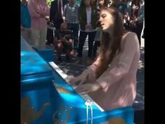 I just found this video and wanted to share it with you. Birdy playing piano piano and singing Wild horses, Lost it all and Skinny love in New york, live in a park, dressed in a beautiful pink dress. Enjoy watching!