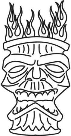 Tiki Mask   Urban Threads: Unique and Awesome Embroidery Designs