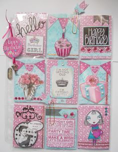 Pocket Letters ❤ Pink & turquoise Birthday PL