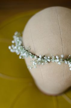 Babys Breath Flower Crown / Halo / Hair Wreath with Real Dried Flowers - for Bride Bridal Wedding Party Engagement - THINNER Version by WoodlandSecrets on Etsy https://www.etsy.com/ca/listing/256742318/babys-breath-flower-crown-halo-hair