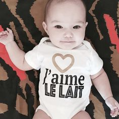 I LOVE MILK ! For all your little milk-ahoolic out there ! Onesies, Milk, My Love, Baby, Clothes, Fashion, Bonjour, Outfits, Moda