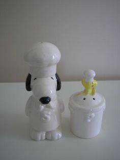 Snoopy  & Woodstock Chef Salt & Pepper Shaker Set