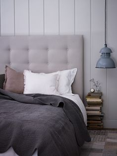 Hand Stitched Quilted Bedspread - grey