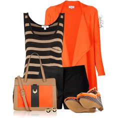 """Orange  Black for Summer"""