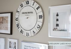 DIY Vintage Clock Face made from plywood | www.meadowlakeroad.com