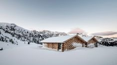 NOA extends historic Alpine retreat with cluster of cosy wooden chalets - Architecture Alpine Chalet, Italy Architecture, Snowy Forest, Snow Scenes, Northern Italy, The Expanse, Cosy, Cabin, The Originals