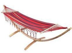 Spring and Summer Outdoor Leisure. 6 1/2 ft Hammock with 10 ft Wooden Stand at http://www.bonanza.com/chestoftreasures