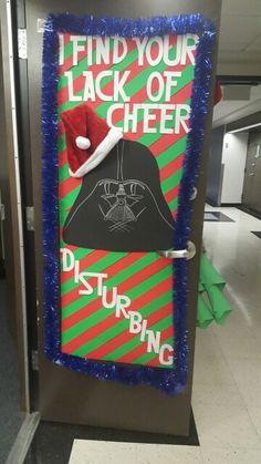 Star Wars Christmas door decorations