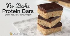 These Homemade Protein Bars are sugar, soy, grain, dairy, and egg-free, but loaded with yumminess! Stop spending a fortune on store-bought bars & make your own.