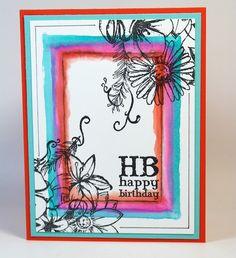 Watercolor Window Frame Cards - Club Scrap