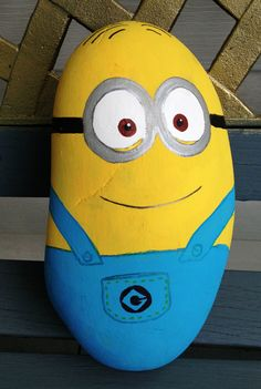 Painted minion rock