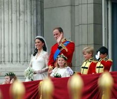 4/29/11 - Will and Kate with some of the children.