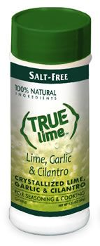 Halt the salt! New True Lime Garlic & Cilantro is made from 100% natural ingredients and contains no sugar or salt. Great flavor. Excellent for chefs, people who are on a low-sodium diet or weight loss plan, and those who like to eat healthy!