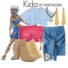 Kida by leslieakay on Polyvore featuring River Island, Rebecca Minkoff, One OAK by Sara, Kenneth Jay Lane, Chico's, Panacea, Disney, disney, disneybound and disneycharacter