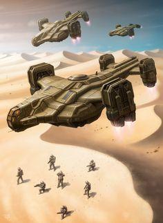 Troop Transport by LeonovichDmitriy on deviantART