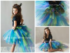 Peacock Feather Bird Bustle Tutu - Newborn Baby 3 6 9 12 18 24 Months 2T 3T 4T 5 6 7 8 10 12 14 Adult Mardi Gras Birthday Halloween Costume by OnceUponATimeTuTus on Etsy