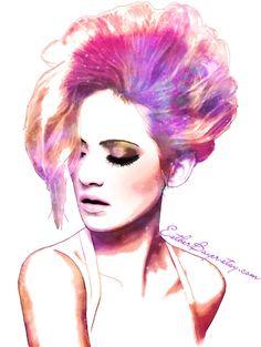 Esther bayer. Fashion illustration