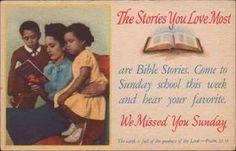 Vintage Sunday school card