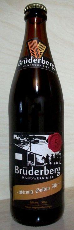 Cerveja Brüderberg Strong Golden Ale, estilo Belgian Golden Strong Ale, produzida por Brüderberg Handwerk Bier, Brasil. 8% ABV de álcool.