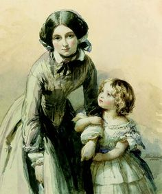 Louise, Princess of Great Britain & Ireland with her Nursemaid, Miss Eliza Collins later Mrs Rudolph Lohlein. Painted in Queen Victoria Prince Albert, Victoria And Albert, Victoria S, Princess Louise, My Princess, Thomas Davies, Victoria's Children, Franz Xaver Winterhalter, Kensington