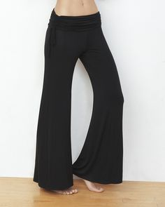 The Side Ruched Palazzo Pant (Black), something stylish and soft.                     by IntiMint.com, $59.97