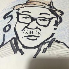 だいぶ前に描いたゴーイングアンダーグラウンドのそうちゃんの似顔絵\(o)/