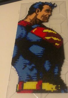 Superman perler bead sprite