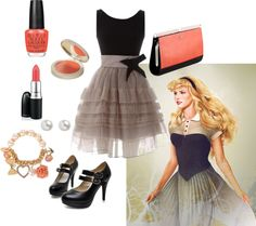 Sleeping Beauty Outfit - Not a fan of the shoes though Princess Inspired Outfits, Disney Princess Outfits, Disney Dress Up, Disney Themed Outfits, Disney Inspired Fashion, Disney Bound Outfits, Disney Character Outfits, Character Inspired Outfits, Fashion Line