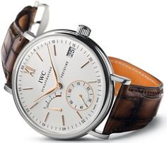 IWC Portofino 8-Days IW510103 white dial, gold indices, brown alligator Santoni strap, 45mm --question: does the white dial version come in rose gold too? $20,200