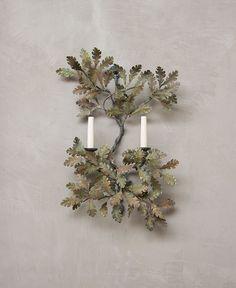 Small Oak Wall Light (Double Sconce) |  Cox London