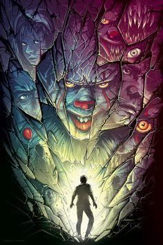 It Chapter Two by Dan Mumford Dark Fantasy Art, Halloween Horror, Halloween Art, Art Sinistre, Dan Mumford, Horror Movie Characters, Horror Movies, Comedy Movies, Horror Artwork