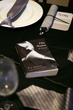 T he excitement over the book, Fifty Shades of Grey hit our monthly dinner girls this month. The girls requested I do a party centered. 50 Shades Party, Fifties Party, 80s Party, Book Club Parties, Wedding Ideas To Make, Pure Romance Party, Invite, Invitations, Get The Party Started