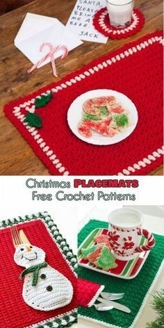 The best Christmas Placemat and Place Mats with Pockets [Free Crochet Patterns] Follow us for more ONLY FREE crocheting patterns for Christmas Decorations, Ornaments, Afghans, Amigurumi and many more!