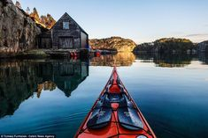 Tomasz Furmanek, who lives in Bergen, Norway, uses a GoPro and a small Sony compact camera on the front of his kayak to take the spectacular first-person pictures. Best Fishing Kayak, Canoe And Kayak, Canoe Boat, Bass Fishing, Kayak Equipment, Kayaking Tips, Kayak Adventures, Instagram Snap, Greatest Adventure
