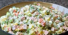 Ensaladilla rusa light/ Spanish Russian Salad with tuna Dutch Recipes, Hungarian Recipes, Greek Recipes, Imitation Crab Salad, Creamy Potato Salad, Salad Recipes, Healthy Recipes, How To Make Salad, No Cook Meals