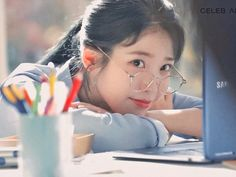 Yup this look caught my heart [credits: for the edit! Korean Actresses, Actors & Actresses, Iu Fashion, Ulzzang Girl, True Beauty, Swagg, Feeling Happy, Korean Drama, Kpop Girls