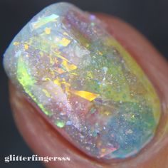 Glitterfingersss in english: TUTORIAL | Opal nails