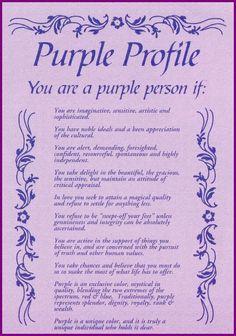 Purple profile