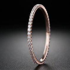 Rose Gold Micro Diamond Eternity Band