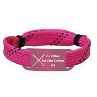 Personalized Softball Lace Bracelet Crossed Bats Adjustable Sport Lace Bracelet -LE