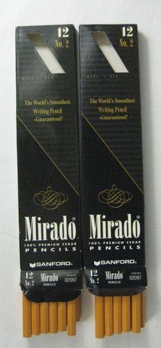 NEW Lot 24 Mirado Pencils Sanford 100% Premium Cedar Number 2 Model 02097 USA