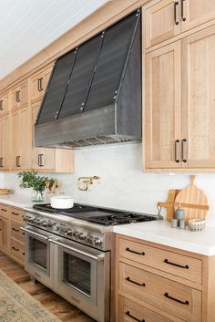 Natural Wood Kitchen Design - Studio McGee Our latest kitchen design inspired by natural elements. Diy Kitchen Remodel, Diy Kitchen Cabinets, Kitchen Redo, Home Decor Kitchen, Home Kitchens, Kitchen Backsplash, Kitchen Makeovers, Modern Kitchens, Kitchen Ideas Light Wood Cabinets