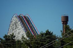 view from washington ave, American Eagle - Six Flags Great America