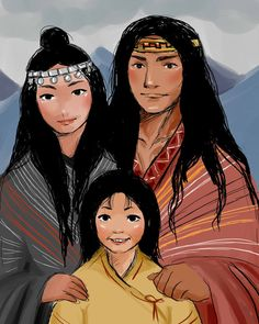 Familia mapuche/ Mapuche's family by NamistaiVanBuuren on DeviantArt Inca, Dress Up Costumes, Fantasy Books, Native American Art, South America, Disney Characters, Fictional Characters, Wonder Woman, Culture