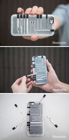 10 of the most stylish, useful and fun iPhone cases you can buy The Tools phone case is both an iPhone case and a tool box combined Related posts:Virtual Laser KeyboardCool gadgets.
