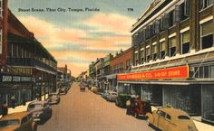 Ybor City street scene Tampa Florida