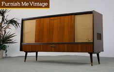 Retro Grundig Stereo Console with Record Player to make into a TV Stand